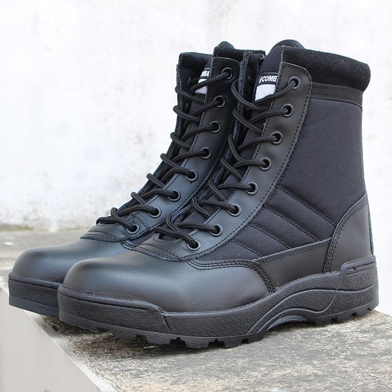 Botas militares masculinas para viagem, botas militares de assalto, tática de inverno, antiderrapante, esportivas
