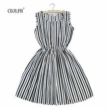 Fashion Women Summer Autum Striped Femme Dress 2018 Dresses Casual Plus Size Woman Clothes Beach White Sexy Mini Clothing