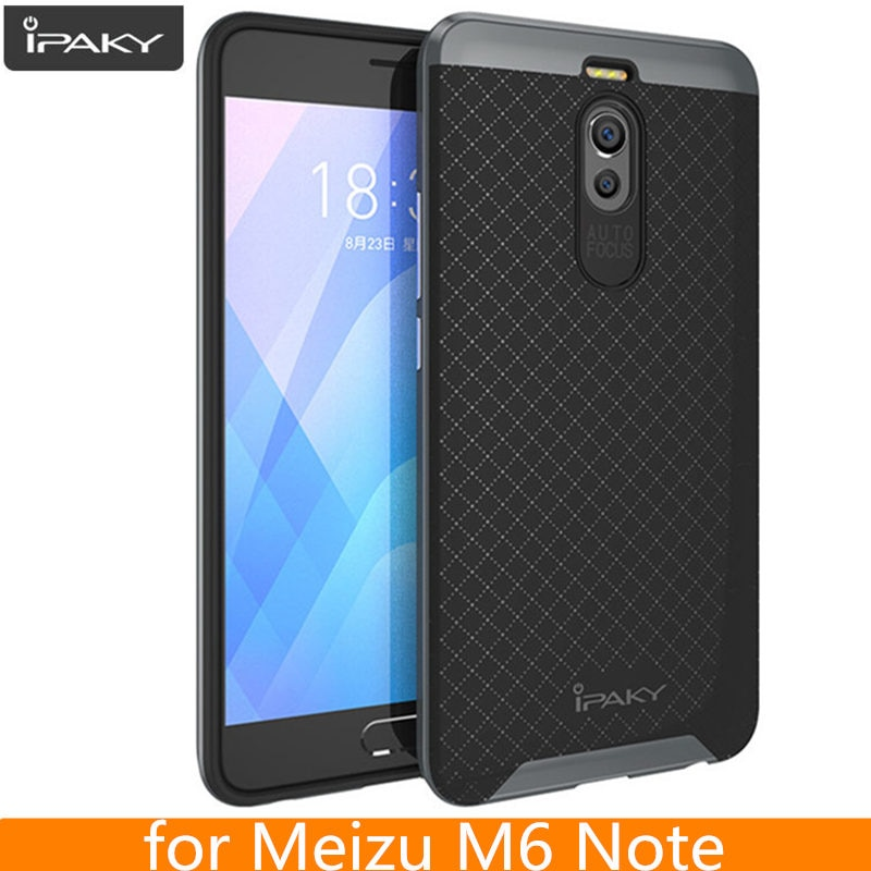 For Meizu M6 Note 6 Case Original iPaky Brand Luxury Silicone PC Hybrid Armor Case for Meizu M6 Note