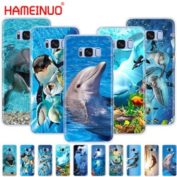 Чехол для мобильного телефона HAMEINUO ocean dolphin Dance And Jumping для Samsung Galaxy S9 S7 edge PLUS S8 S6 S5 S4 S3 MINI