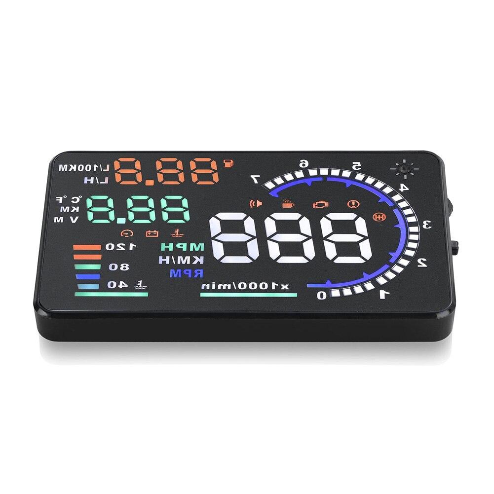 """5,5 """"Universal HUD para proyector cabeza A8 pantalla OBD II 2 Digital advertencia de velocidad"""