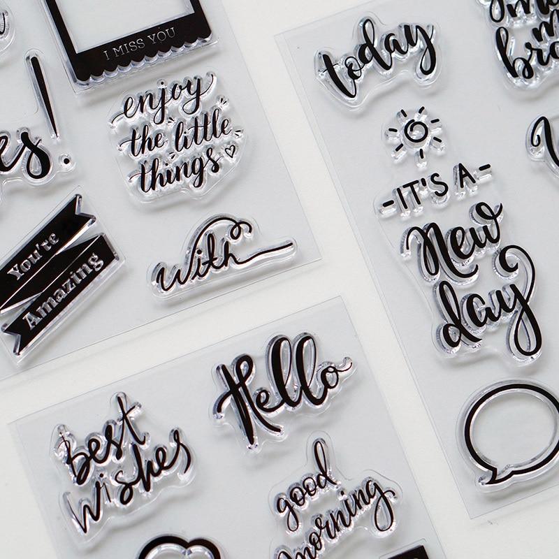 Sellos transparentes de silicona para álbum de fotos y fabricación de tarjetas artesanales