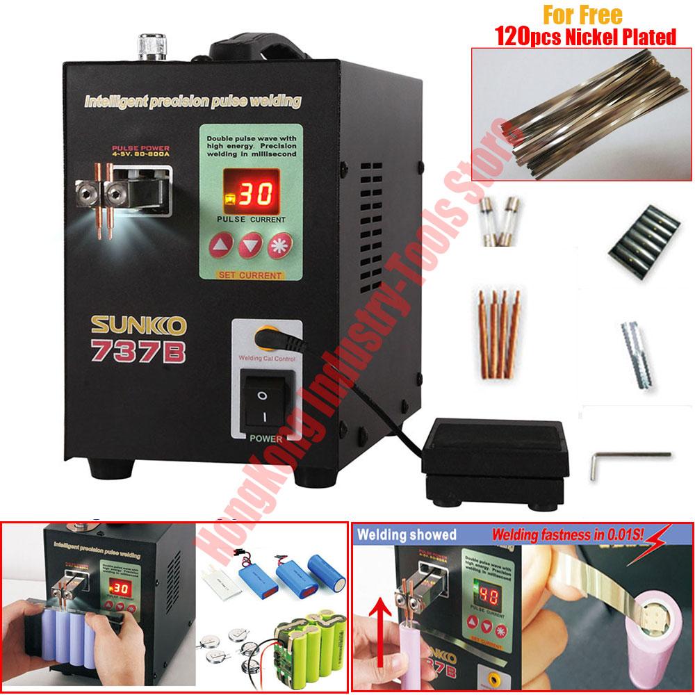 New Version 1.5KW Spot Welder Machine for 18650 Batteries Spot Welding Machine LED illumination Digital Display Pulse Welding