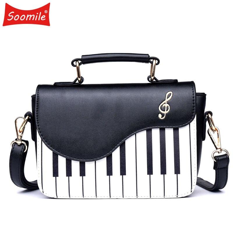 ¡Novedad del 2020! Bolsos y monederos con patrón de Piano de Soomile, bolso de cuero de Pu, bolso de moda para mujer, bandolera pequeña para chica joven