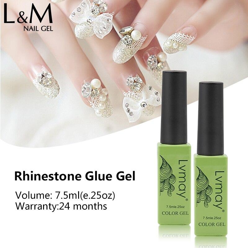 Lvmay 6 pièces UV Art des ongles colle strass adhésifs Gel décoration des ongles collant Gel vernis à ongles