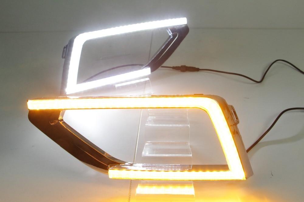 Osmrk led drl daytime running light for Volkswagen teramont 2017-18 atlas, wireless switch, yellow turn signal, dim function