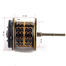 Bobine de Baitcasint Johncoo bobine peu profonde pour JC200, bobine légère 14.6g seulement bobine peu profonde pour leurres légers