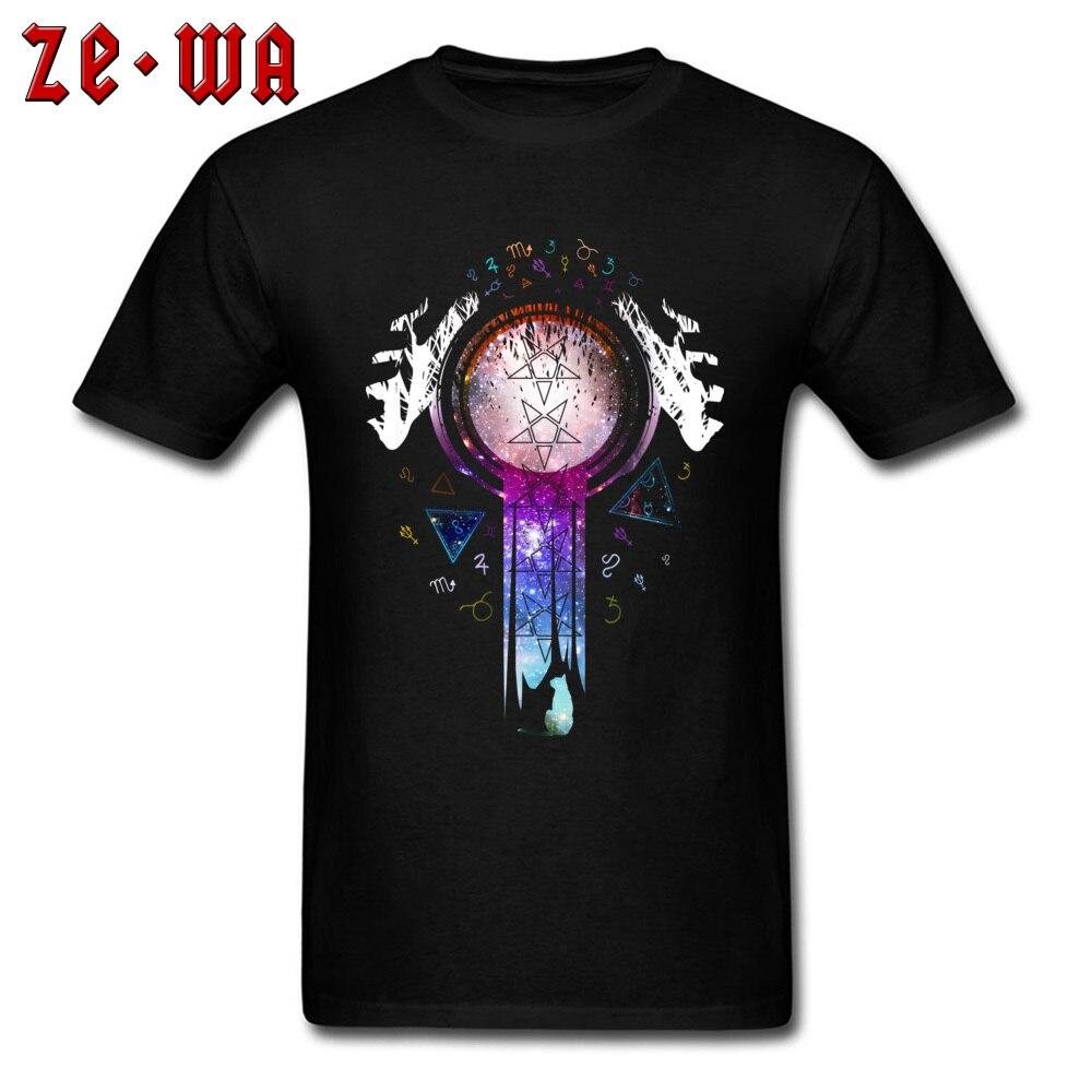 100% algodón hombres camiseta Europa camiseta colorida Magic Hands On Crystal Ball Wizard y Witch Art ropa negro envío gratis
