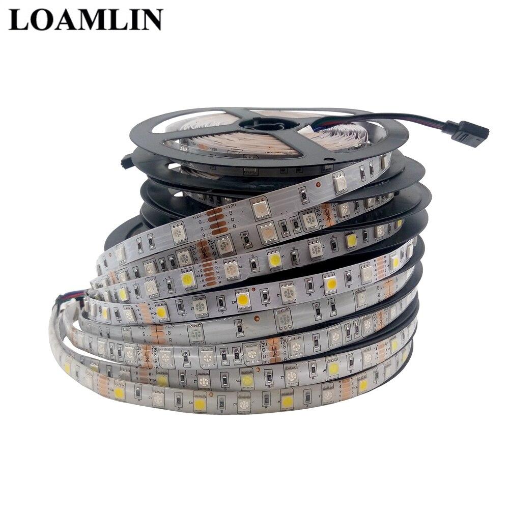 Led Strip SMD5050 30Leds/m 60Leds/m Withe/Warm White/Blue/Green/Red/Yellow/Pink/RGB/RGBW/RGBWW Led Flexible Tape Light DC12V