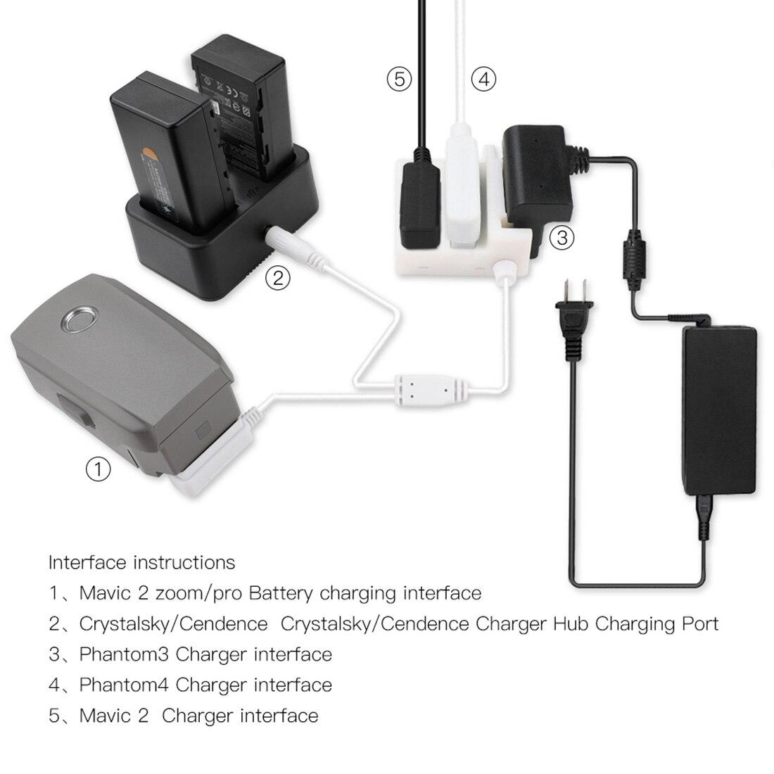 Conversor de tensão inteligente carregador adaptador para banco de potência para crystalsky para dji mavic 2 pro/zoom/phantom 3/4 bateria