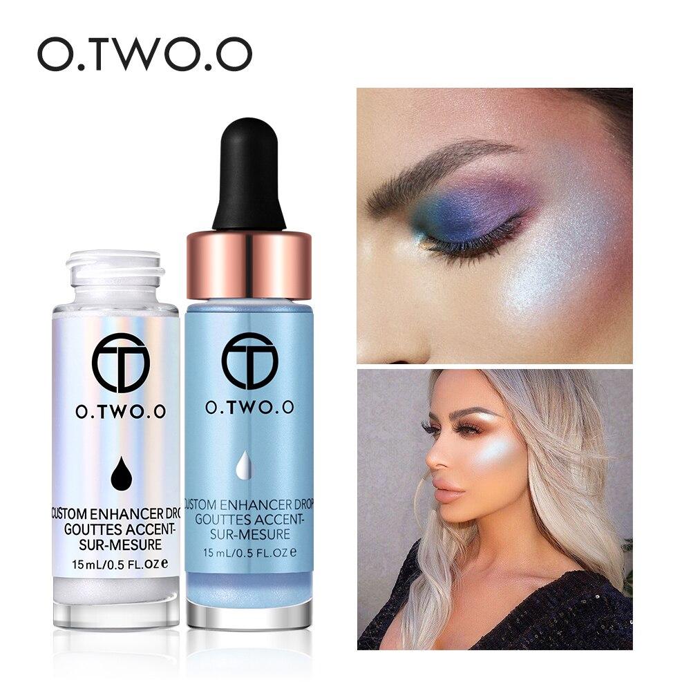 O. TW O.O Maquillaje facial subrayador líquido crema impermeable larga duración 7 colores rosa oro bronceador metálico resaltador OT002