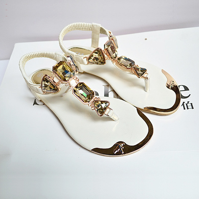 women sandals 2019 hot fashion rhinestone summer shoes clip toe sandalia feminina