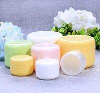 10g20g50g100g refillable bottles plastic empty makeup jar pot travel face creamlotioncosmetic container random color