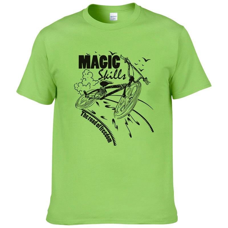 Camiseta de bicicleta Magic Skill Road of freedom, camiseta de manga corta de estilo veraniego para hombre, Camiseta de cuello redondo, camisa de ciclista #037