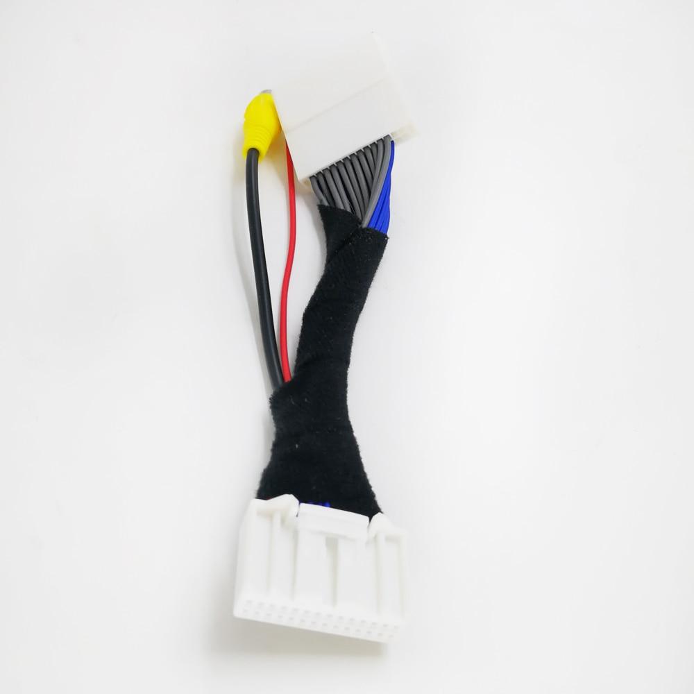 Biurlink que inverte o adaptador de vídeo do carro do fio do chicote de fios rca para mazda cx5 CX-5