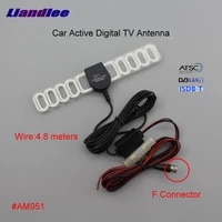 car digital tv antenna amplifier dvb t isdb t atsc automobile active aerial f connector male plug booster ant am951