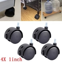 myhomera 4x 2x wheels furniture caster m8 screw plate 30mm swivel castor replaced trolley wheel silent with brake protection