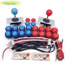 Kit Arcade FAI DA TE con 5V led arcade pulsante SANWA Joystick USB Ritardo Zero encoder per PC / Raspberry pi