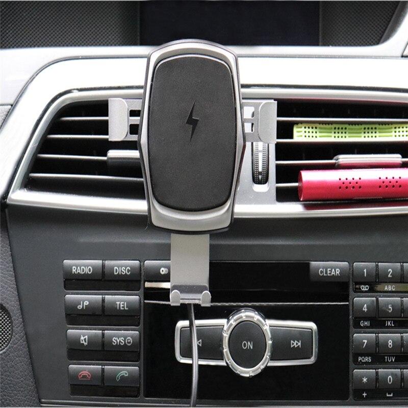 Cargador inalámbrico para teléfono inteligente cargador de sujeción automático de carga rápida para iPhone inteligente xr X Max Huawei Samsung S9 s10