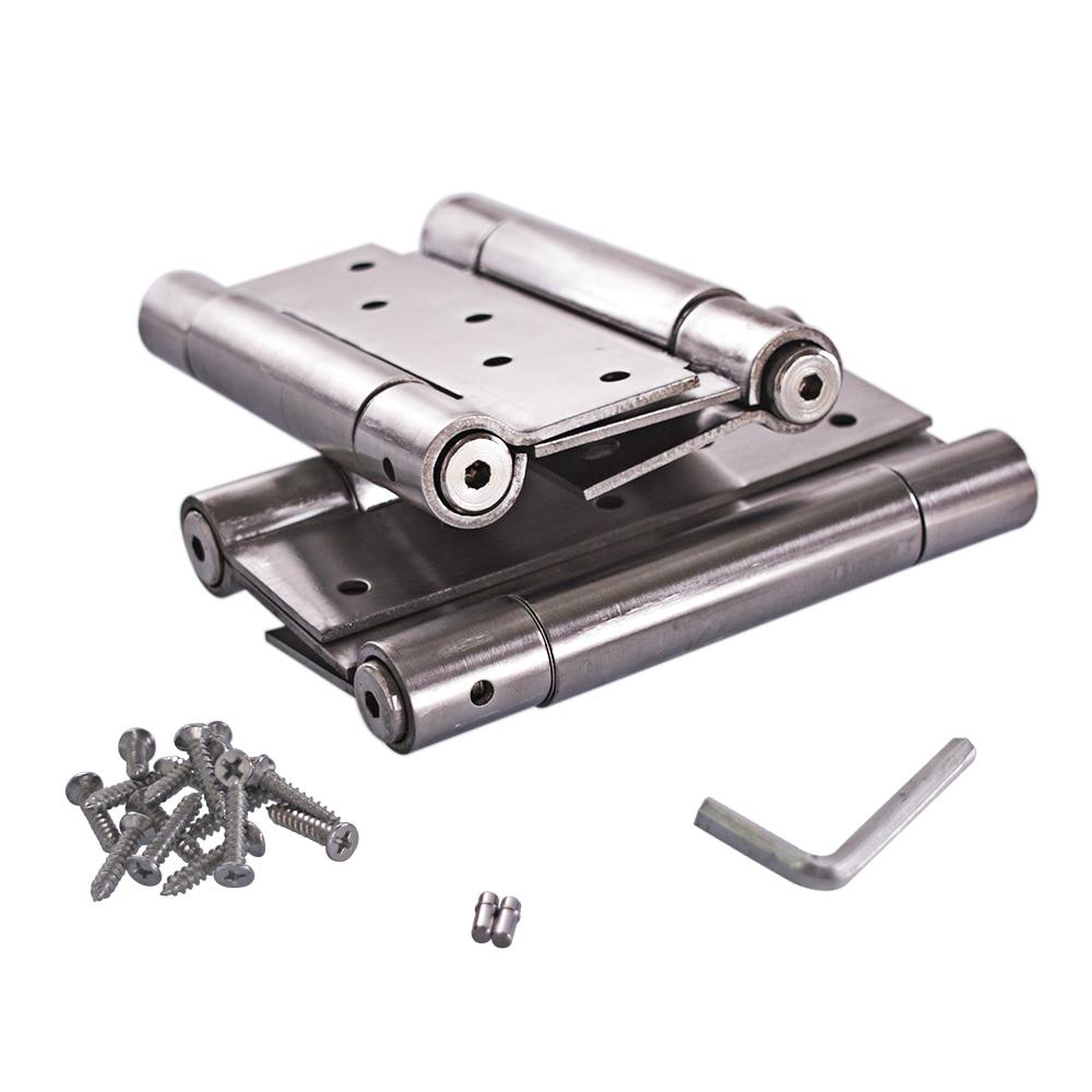 Bisagras de resorte de puerta de plata de doble acción de cierre automático de acero inoxidable de 6 pulgadas tensión ajustable 1 par