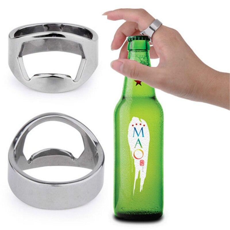 900 pcs finger ring bottle opener  Stainless Steel Creative Versatile   Bar Beer tool Free Shipping