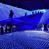 6*4 m 750 LED עץ רשת תקרת בית קיר פיות מחרוזת נטו אור נצנץ מנורת זר עבור פסטיבל חג מולד קישוט