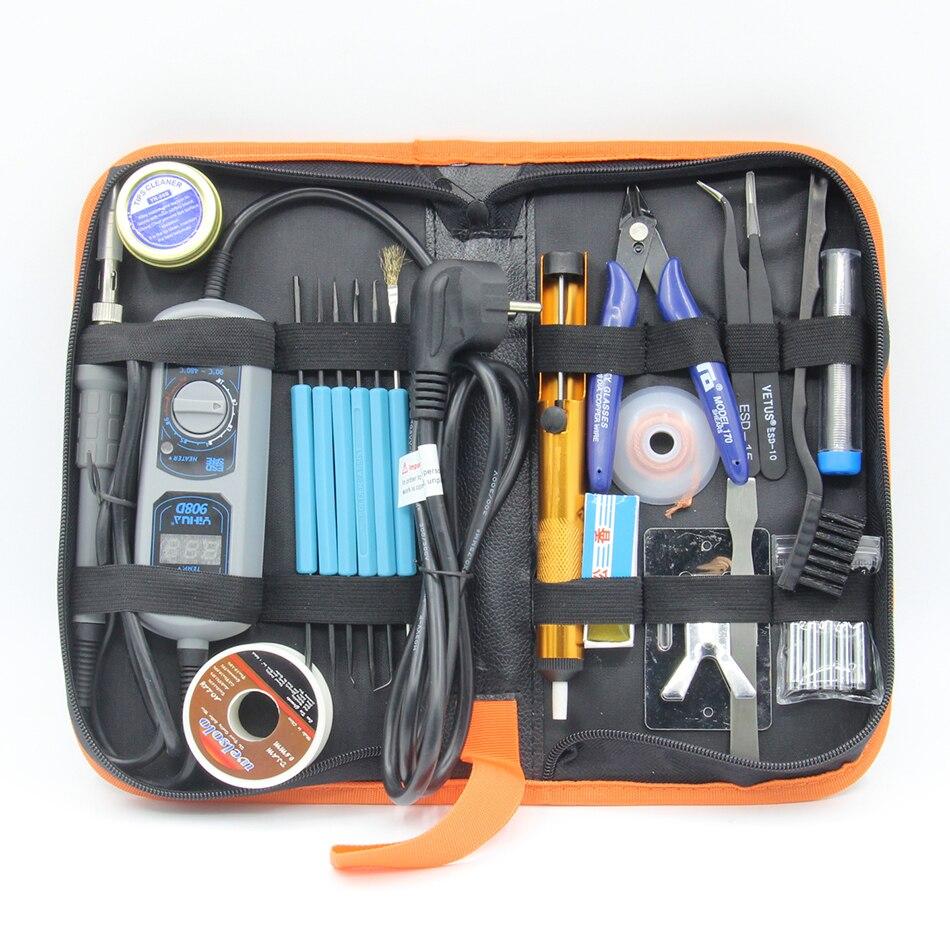 YIHUA 908D 908 + 60W soldador eléctrico ajustable temperatura constante Estación de soldadura kit de herramientas