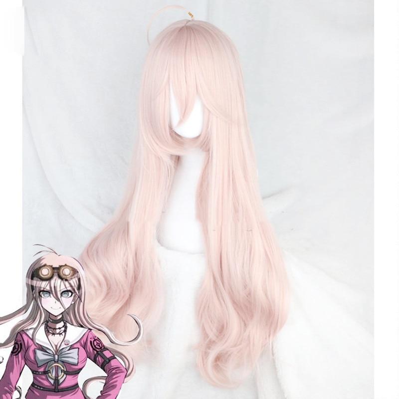 Cosplay danganronpa peluca Miu Iruma disfraz mujer adulto pelucas Halloween Anime juego pelo envío gratis + tapa de la peluca