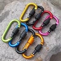 aluminum carabiner d ring key chain clip camping keyring snap hook outdoor travel kit 8cm
