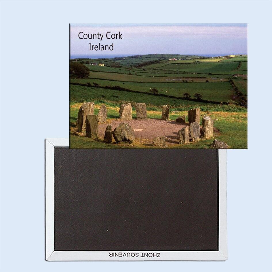 Drombg círculo de piedra, Corcho del condado, Irlanda, imanes para la nevera, recuerdos turísticos, regalos pequeños 24737