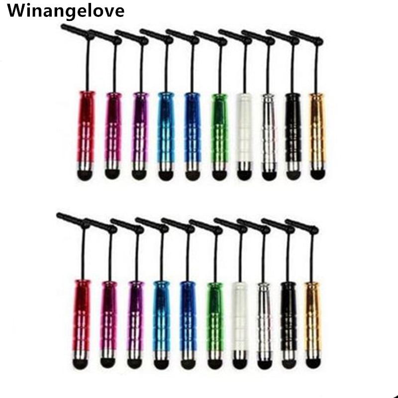 Winangelove 5000 قطعة البسيطة ستايلس لمس القلم مع سماعة الغبار التوصيل ل فون 7 4S 5S 6 لسامسونج لباد 2 الهاتف المحمول