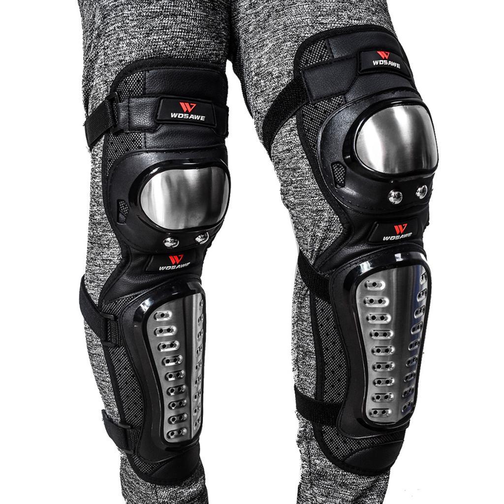 2 piezas Unisex adultos rodilla espinillera Protector almohadillas negro para bicicleta motocicleta