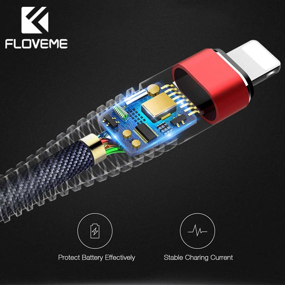 usb кабель айфон 10 для iPhone 7 plus se кабель Floveme высокая прочность USB кабель для iphone 8 6 6 S 7 Plus X для Lightning/USB оплетка 2A зарядный кабель для передачи дан...