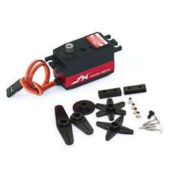 Jx PDI-4409MG 9 kg curta robô servo digital da engrenagem do metal de 180 graus da direcção da engrenagem para RC 1/10 carro