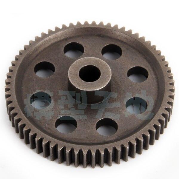 Modelo RC, diferencia de Metal de acero para coche, engranaje principal 64T HSP 11184 (5mm) para DIY 1/10, coche 94123, 94107