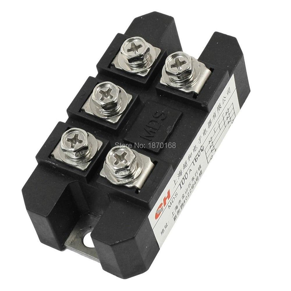 MDS-100A 5 terminal 3 Phase diode module, rectifier bridge, 100A 1600 V