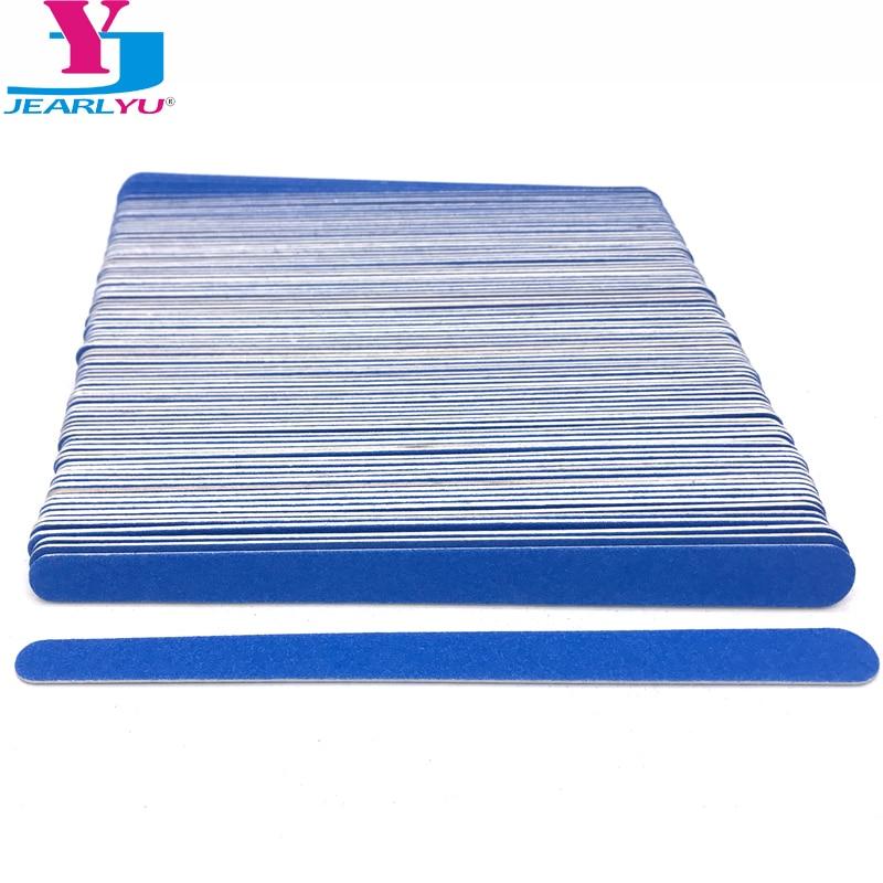 Wholesale 100pcs/lot Nail File Wooden Polished Bar Strip Limas Para Manicura Sanding Stick 180/240 Grit Nagelvijl Double Head