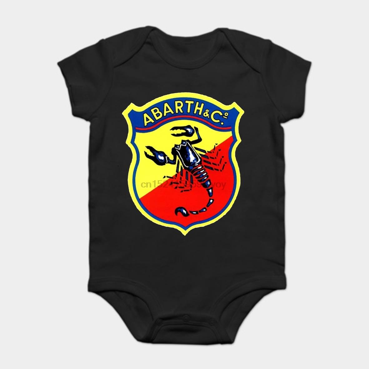 Baby Onesie Baby Bodysuits kid t shirt 100% cotton custom printed Classic car Classic Car Logos Abarth & C
