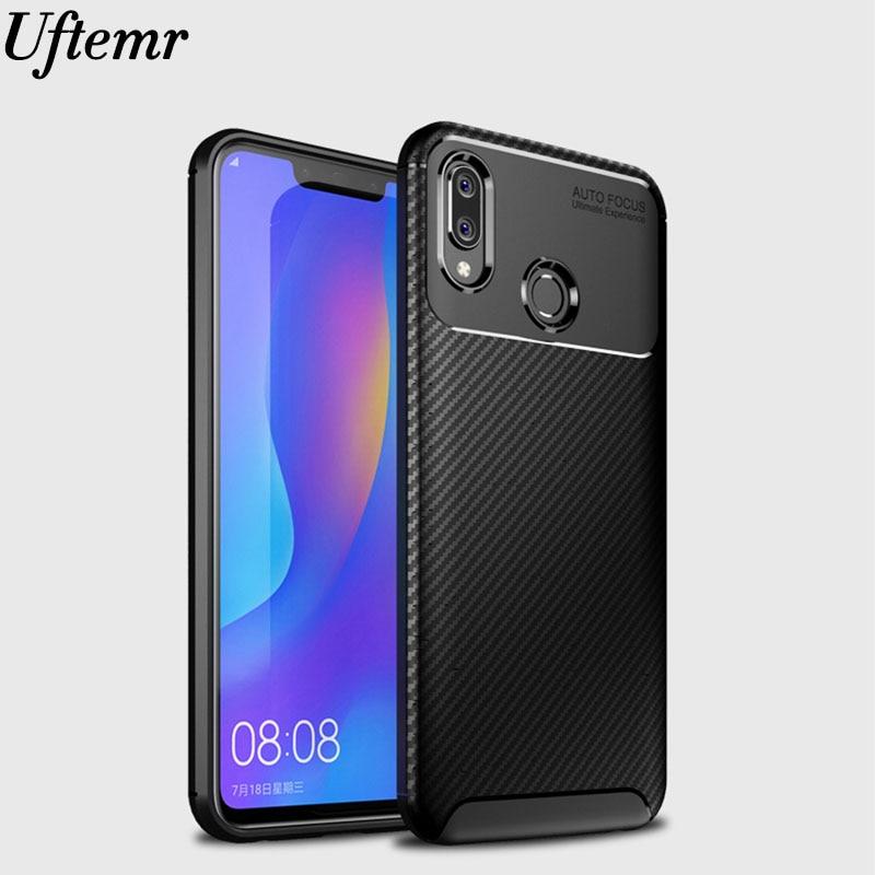 Funda de Honor Play COR-L29 funda de fibra de carbono mate a prueba de golpes suave tpu funda trasera de silicona para Huawei Honor Play caso 6,3