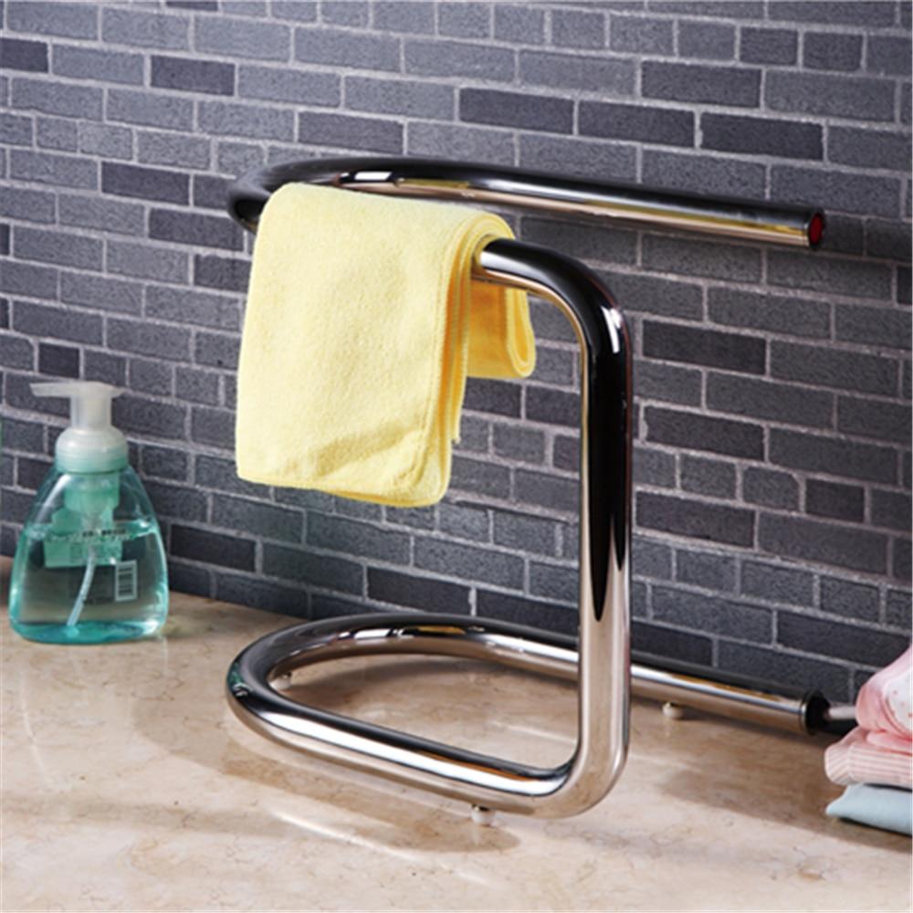 Calentador de toallas de pie, calentador eléctrico, toallero de acero inoxidable, accesorios de baño, Toalleros calentados, HK-K01