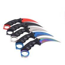 Cs go Karambit-couteau de chasse, couteau de poche pour le Camping et la survie, tactique en plein air, EDC à lame fixe