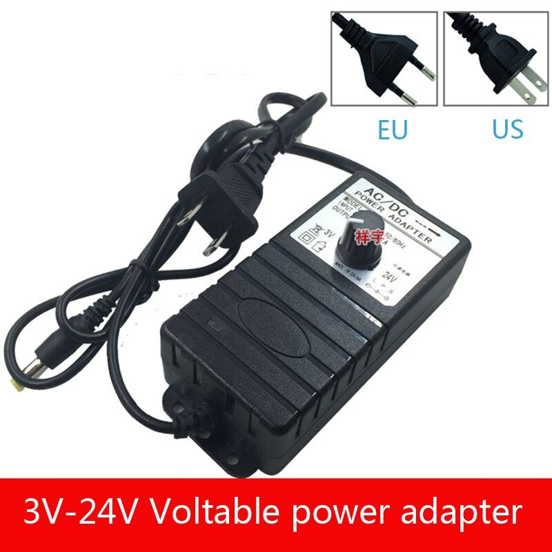 Baixo consumo de energia 3 V-24 V adaptador de energia DC ajustável fonte de alimentação de tensão estabilizar 13V11V3-24V1A multifuncional