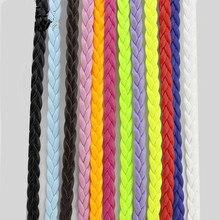 free shipping 32.8 Feet Flat Braided Leatherette  5X1mm String Jewelry Cord diy Accessories Flat Wov