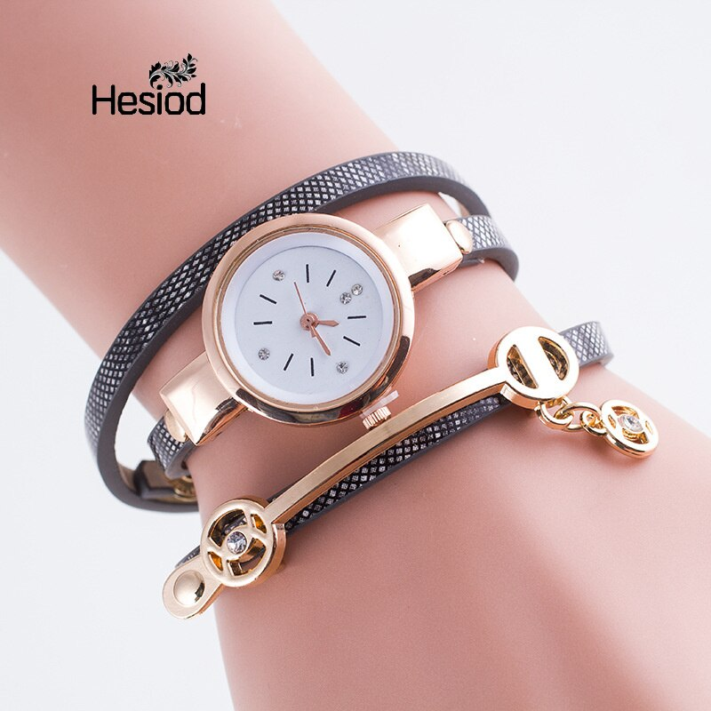 New Fashion Women Bracelet Watch Gold Quartz Gift Watch Wristwatch Women Dress Leather Casual Bracelet Watches Wholesale