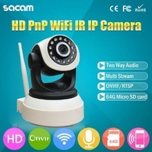 SACAM Home Security IP Camera Wi-Fi Wireless Mini Network Camera NVR P2P Motion Detection PanTilt Indoor Surveillance CCTV