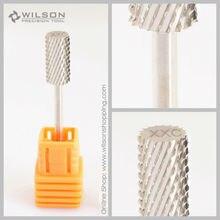 2pcs-Large Barrel Bit-Double Coarse (XXC-1110009)-Sliver/Gold-WILSON Carbide Nail Drill Bit