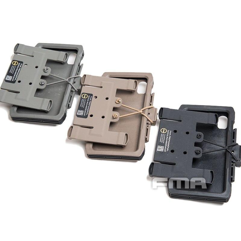 Nueva Bolsa móvil FMA Molle para IPHONE XS Max TB1324, funda táctica para teléfono móvil estilo de chaleco de caza al aire libre