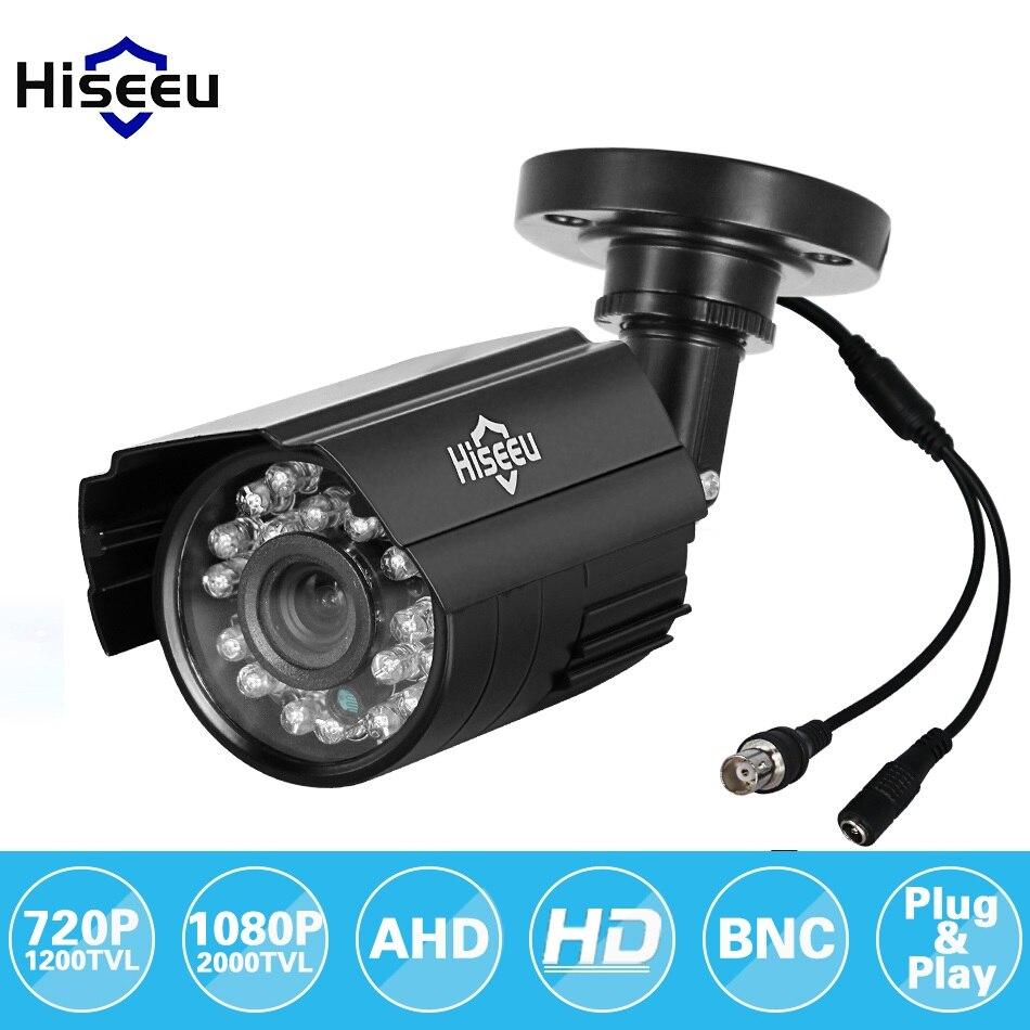 Hiseeu 720P 1080P AHD Camera Metal Case Outdoor Waterdichte Bullet CCTV Camera Surveillance Camera voor cctv DVR systeem beveiliging