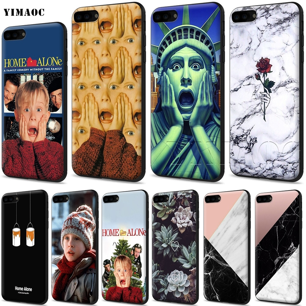 YIMAOC casa sola funda de silicona suave para iPhone 11 Pro XS Max XR 8X8 7 6 6S Plus 5 5S se