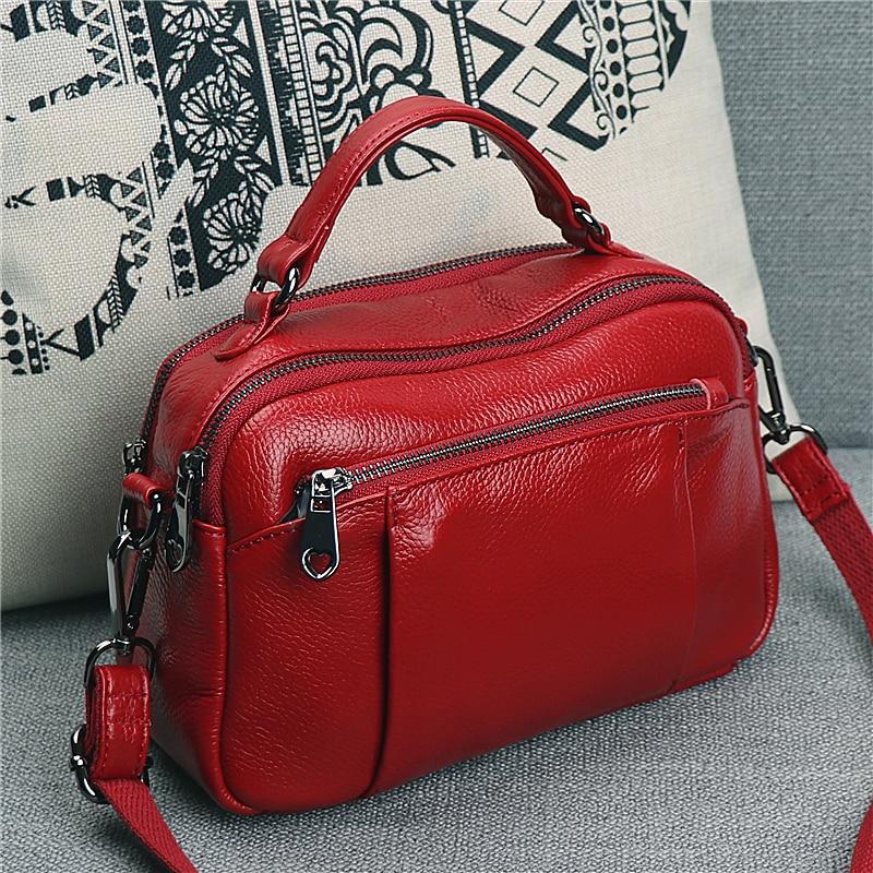 حقيبة ربيعية محمولة للنساء ، حقيبة كتف نسائية ، حقيبة جلد البقر متعددة الطبقات ، مجموعة جديدة 2021